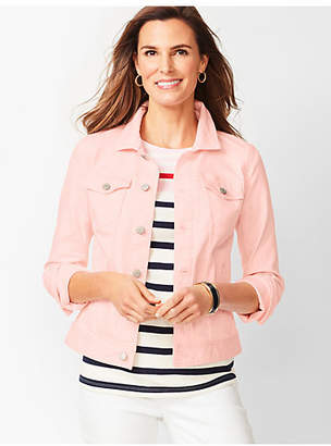 Talbots Classic Jean Jacket - Light French Rose