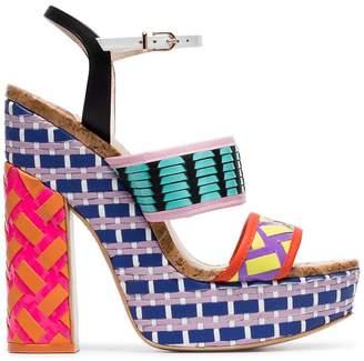 570200a077fc Sophia Webster Celia 140 woven-leather platform sandals