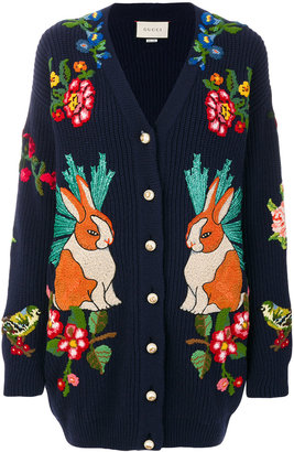 Oversize embroidered cardigan