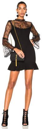 Nicholas Crepe Mini Flounce Dress