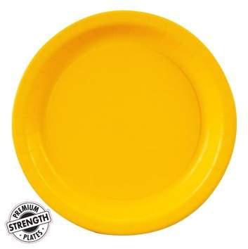 Generic Dessert Plate - Yellow (24 Count)
