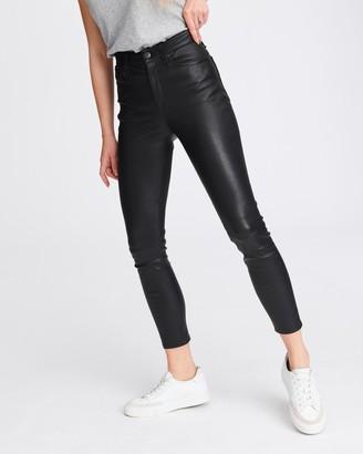 Rag & Bone Nina high-rise ankle skinny leather pant