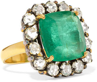 Amrapali 18-karat Gold, Emerald And Diamond Ring