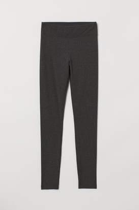 H&M Ribbed Leggings - Gray