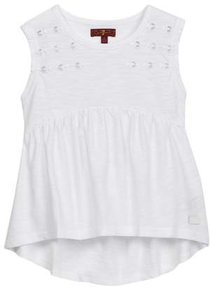 7 For All Mankind Embroidered Tank (Little Girls)