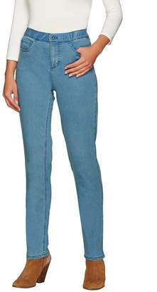 "Denim & Co. How Modern"" Tall Denim Slim Leg Jeans"