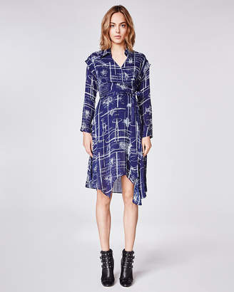 Nicole Miller Blueprint Wrap Dress