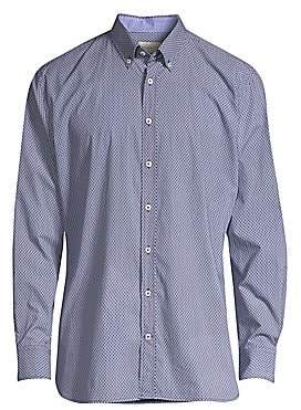 Bugatti Men's Printed Long Sleeve Sport Shirt