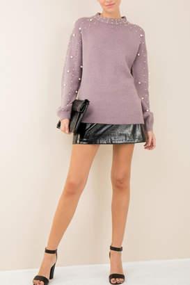 Entro Lavender Pearl Sweater