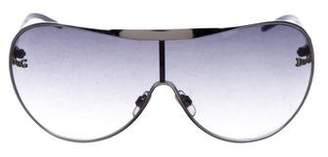 Dolce & Gabbana Logo Shield Sunglasses