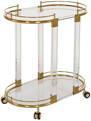 One Kings Lane Kenwich Bar Cart - Clear/Gold
