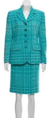 Ungaro Tweed Wool Skirt Suit
