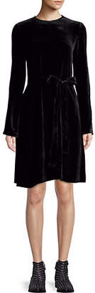 Theory Long-Sleeve Velvet Dress