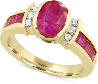 Effy Amoré by Certified Ruby (2-1/5 ct. t.w.) and Diamond (1/8 ct. t.w.) Ring in 14k Gold, Created for Macy's
