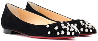 Christian Louboutin Drama studded suede ballet flats