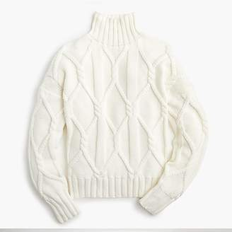 J.Crew Collection cable-knit mockneck sweater