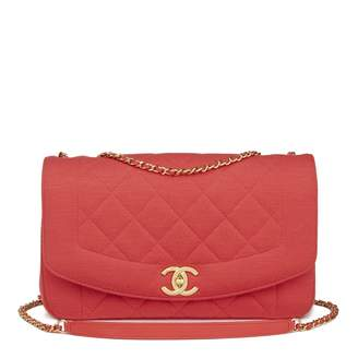 Chanel Diana cloth crossbody bag