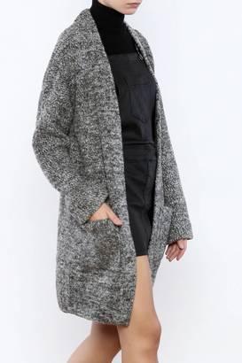 Lush Slate Long Sweater $78 thestylecure.com