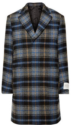 Calvin Klein + Pendleton Oversized Checked Virgin Wool Overcoat