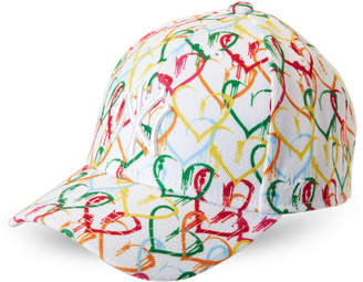 '47 Toddler Girls) Adjustable Rainbow Heart Baseball Cap