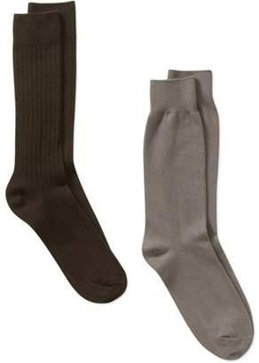 George Men's Cotton Rib Socks 2-Pack