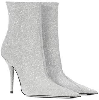 Balenciaga Slash Heel glitter boots