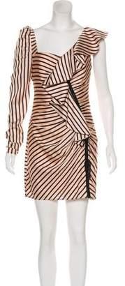 Self-Portrait Stripe Print Knit Dress