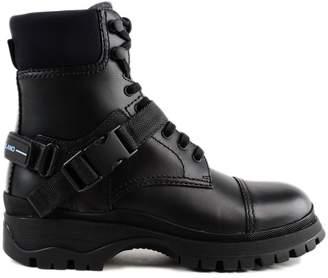 Prada Vit Rodeo Lace-up Boots