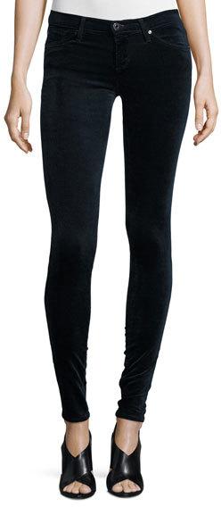 AG JeansAG Adriano Goldschmied The Legging Velvet Skinny Jeans, Blue Night