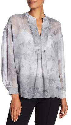 Vince Marbled Silk Blouse