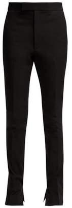 Helmut Lang Rider Slim Leg Cotton Blend Trousers - Womens - Black