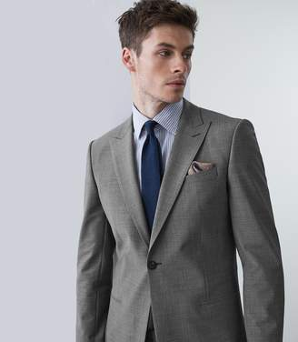 Reiss Our last order date for Christmas has now passed BELIEF MODERN FIT TRAVEL SUIT BLAZER Soft Grey