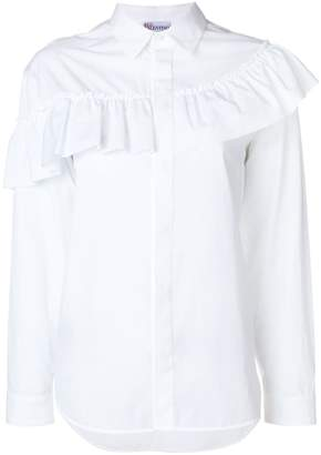RED Valentino asymmetric ruffle trim shirt