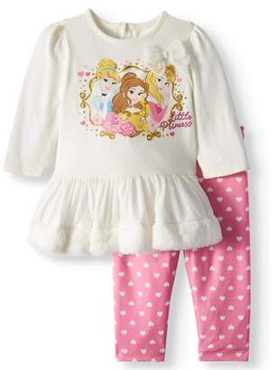 Disney Princess Long Sleeve Tutu Tunic & Leggings, 2-Piece Outfit Set (Baby Girls)