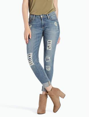 Lucky Brand Sasha Super Skinny Mid Rise Rip & Repair Legging Jean