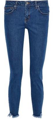 IRO Jarod Cropped Frayed Mid-Rise Skinny Jeans