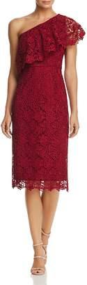 Nanette Lepore nanette One-Shoulder Lace Sheath Dress