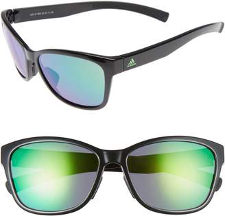 adidas Excalate 58mm Mirrored Sunglasses