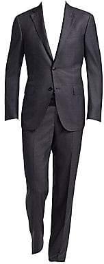 Ermenegildo Zegna Men's Two-Button Wool-Blend Plaid Suit