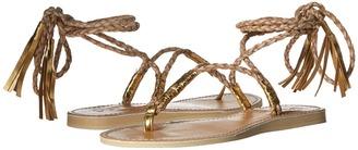 L*Space Gili Ankle Wrap Braid Sandals $119 thestylecure.com