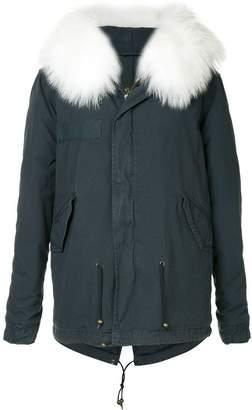 Mr & Mrs Italy fur hooded coat