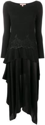 Ermanno Scervino lace embellished flared dress