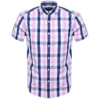 Barbour Beacon Short Sleeve Check Shirt Pink