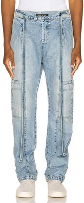Fear Of God Denim Baggy Cargo Trouser in Vintage Indigo | FWRD