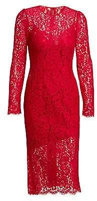 Dolce & Gabbana Women's Jackie Long-Sleeve Lace Sheath Dress
