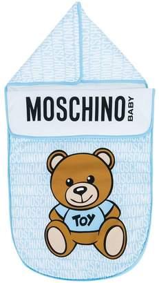 Moschino Kids teddy logo sleeping bag