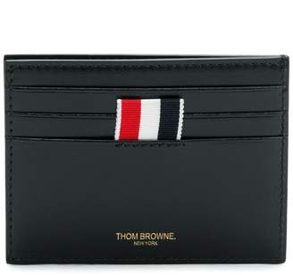 Thom Browne Embossed Toy Icon Cardholder With Note Compartment In Calf Leather
