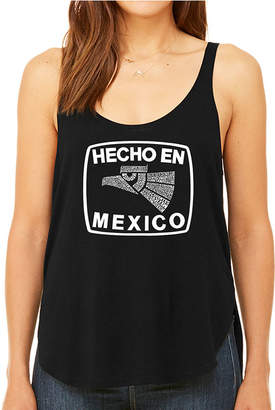 LOS ANGELES POP ART Los Angeles Pop Art Women's Premium Word Art Flowy Tank Top - Hecho En Mexico