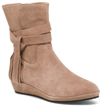 Suede Comfort Demi Wedge Booties