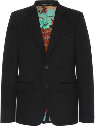 Givenchy Printed-Lining Crepe Blazer